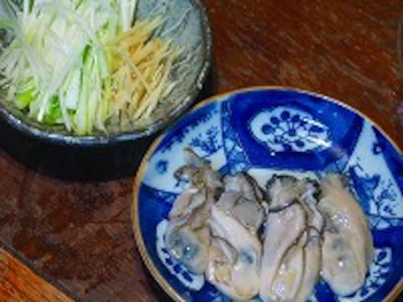 牡蠣ネギショウガ