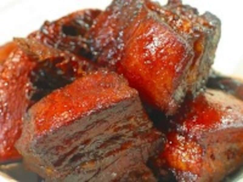 豚バラ肉とタケノコの醤油煮込み