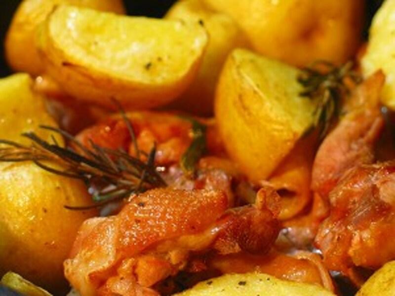 鶏とジャガイモのロースト ローズマリー風味