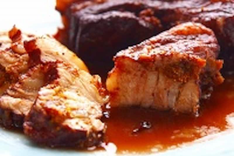 豚ばら肉と干しイチジクの赤ワイン煮