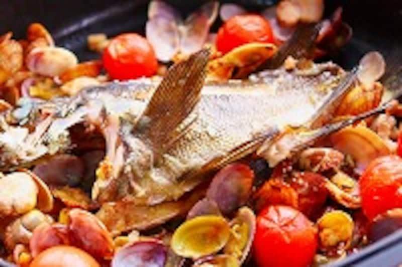魚のアクアパッツァ風