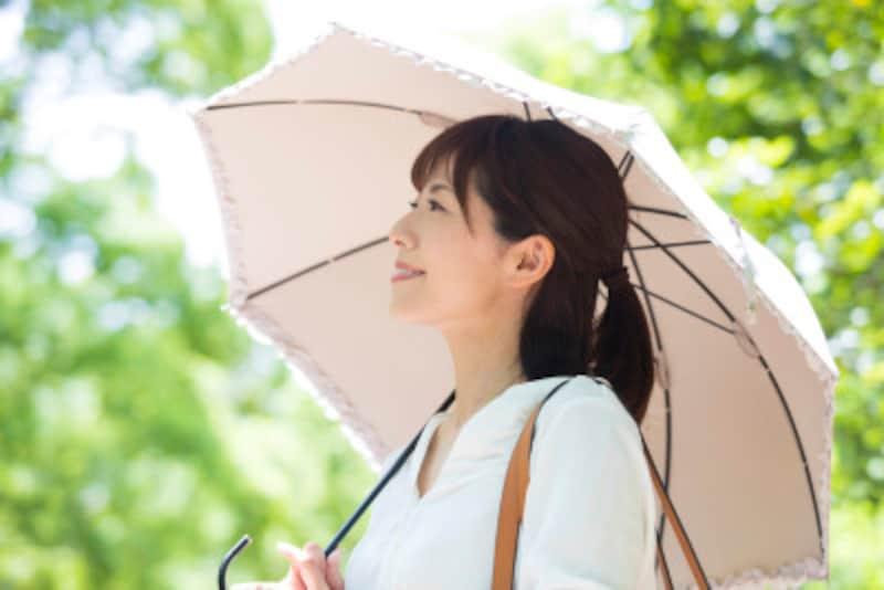 日傘の洗い方・汚れの落とし方:お気に入りの日傘は、来年も気持ちよく使いたいから、ちょっとお手入れしておくと安心ですネ