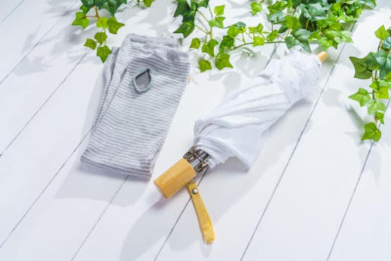 綿や麻の日傘は洗えます