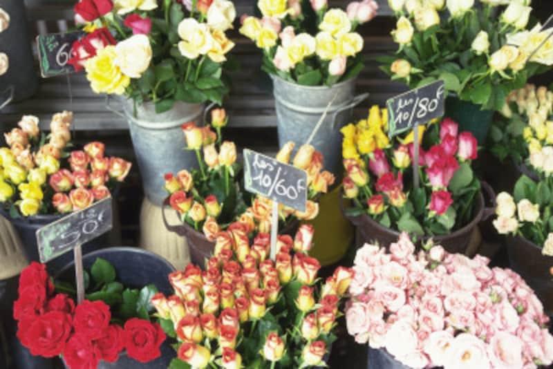 好きな花を指差して、「Ça,s'ilvousplaît.」でOK!