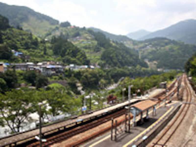 大歩危駅周辺の景観