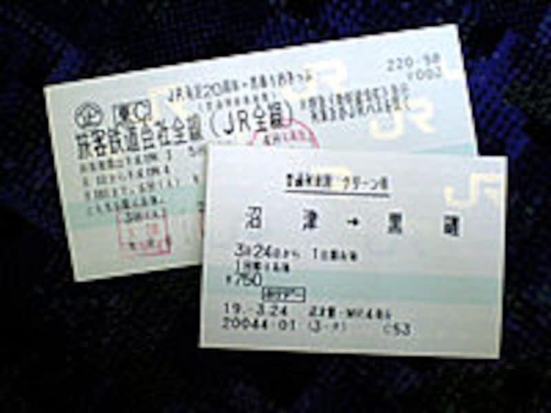 乗車券とグリーン券