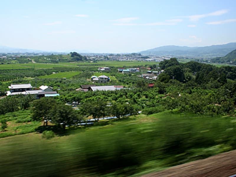 藤田~貝田間の車窓