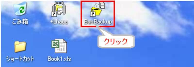 BunBackupショートカット
