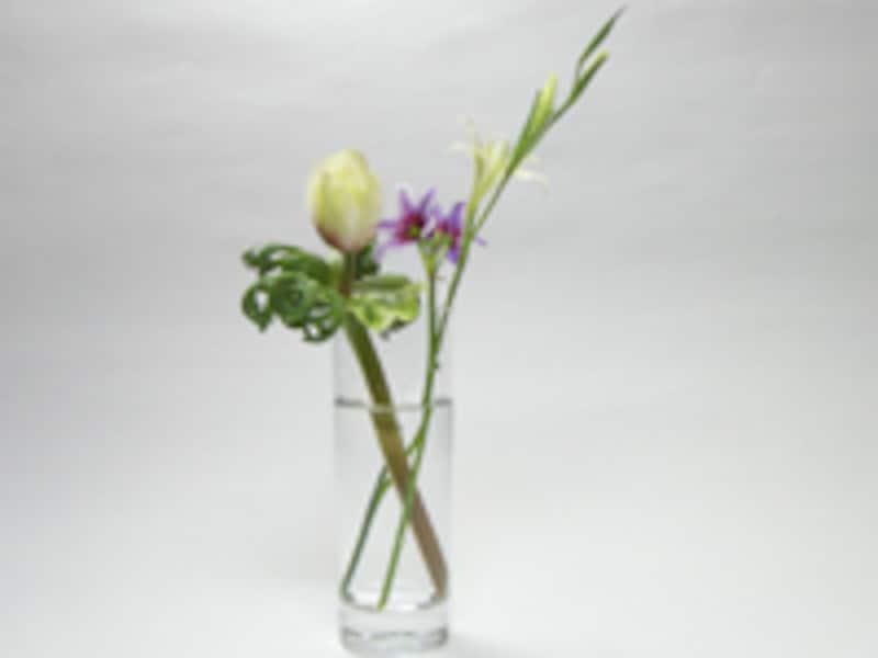 3本の花を使う