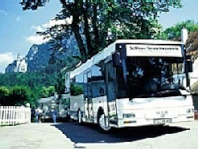 お城行きのバス