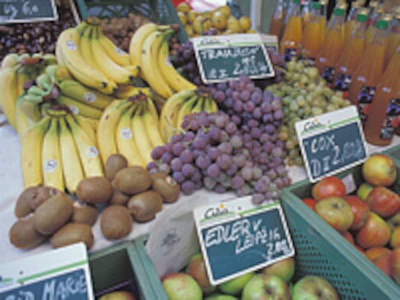 オーガニックの果物