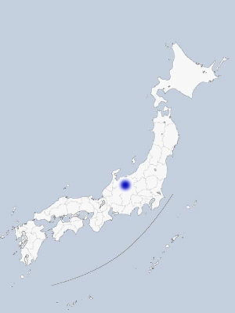 富山・立山の地図
