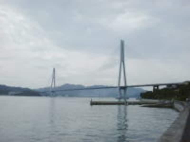 生口島から見る多々羅大橋