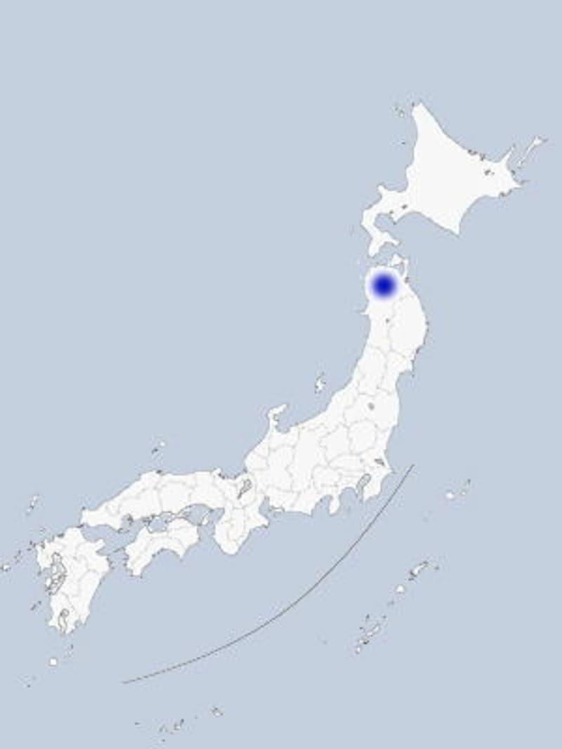 弘前の地図