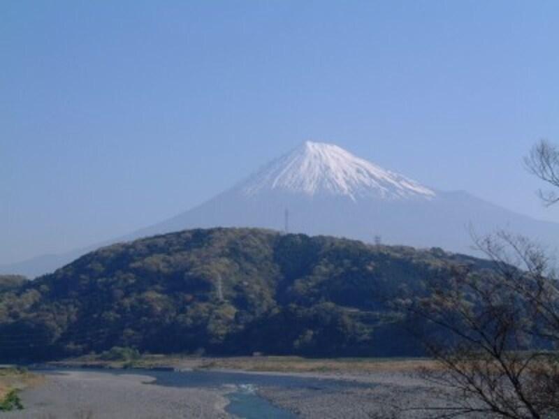 道の駅富士川楽座から望む富士山(1)