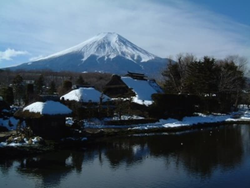 忍野八海・榛の木林資料館から眺める富士山(1)