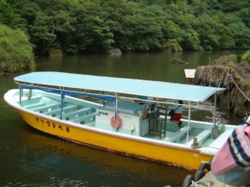 浦内川を遡ったボート