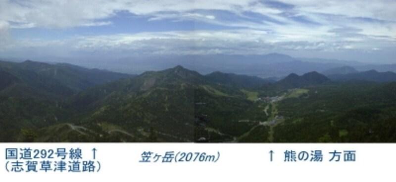 横手山頂からの眺め