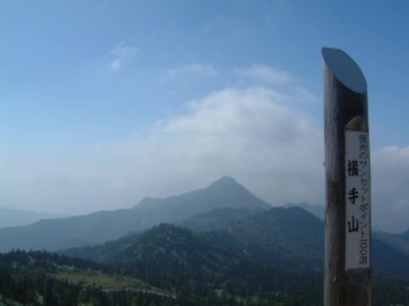 横手山は信州のサンセットポイントの一つ