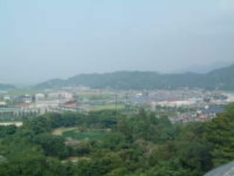 彦根城天守からの眺め