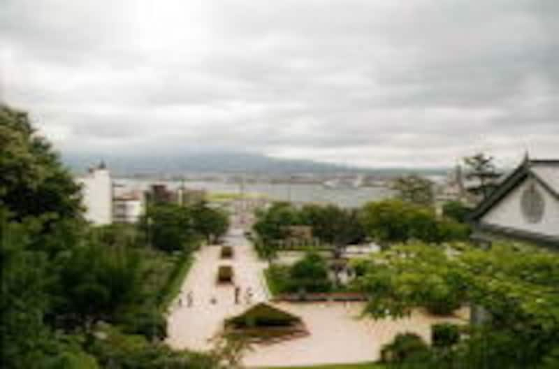 旧函館区公会堂からの眺め