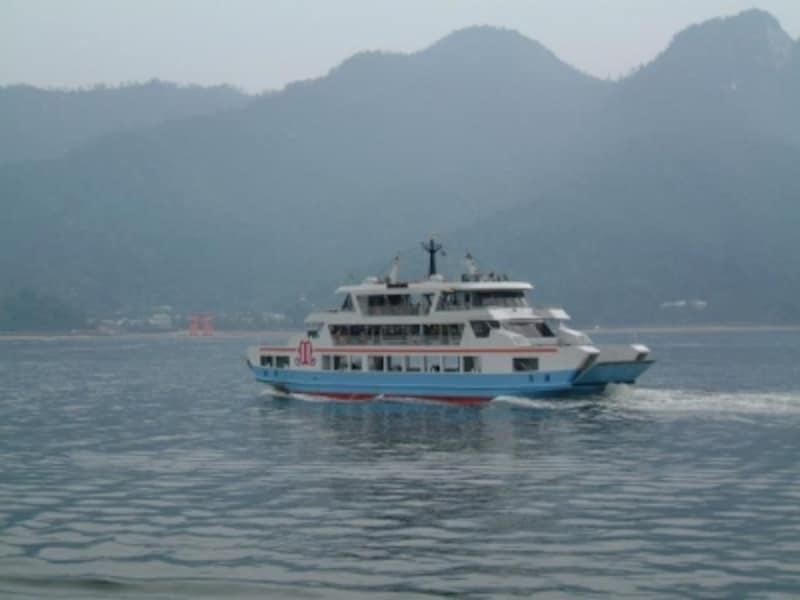 宮島松大汽船のフェリー