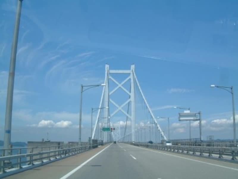 瀬戸中央道・北備讃瀬戸大橋をこれから渡る