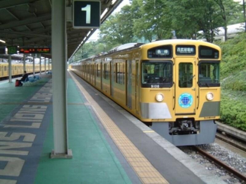 ところざわのゆり園の最寄り駅、西武球場前駅