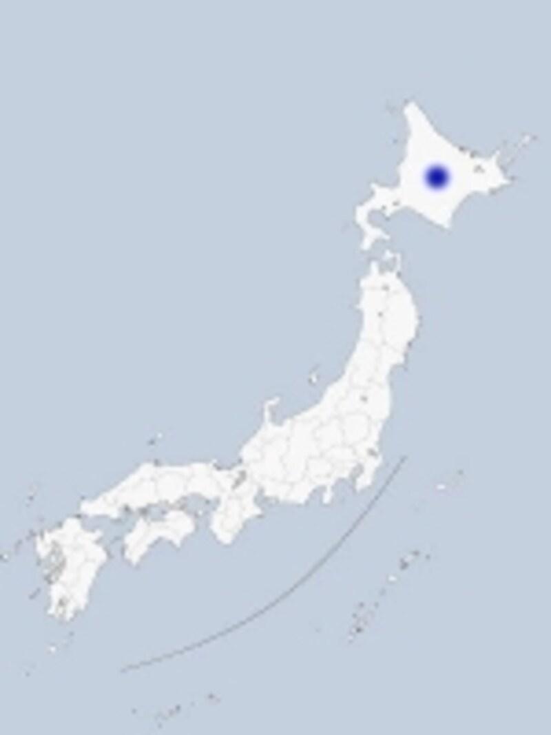 大雪山の地図