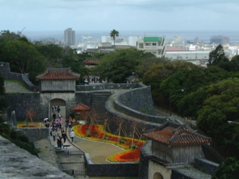 首里城(10)/北殿の展望広場からの眺め