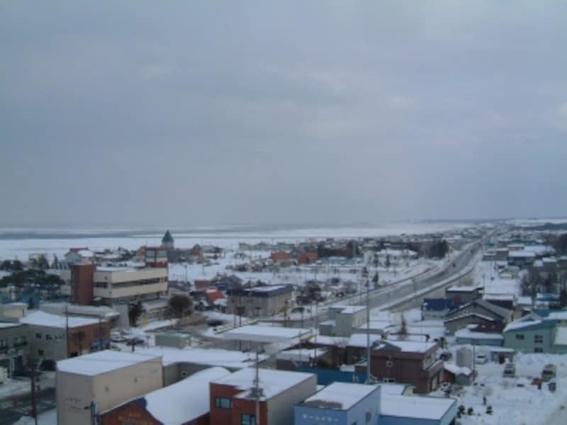 道の駅おうむから眺める流氷(2)