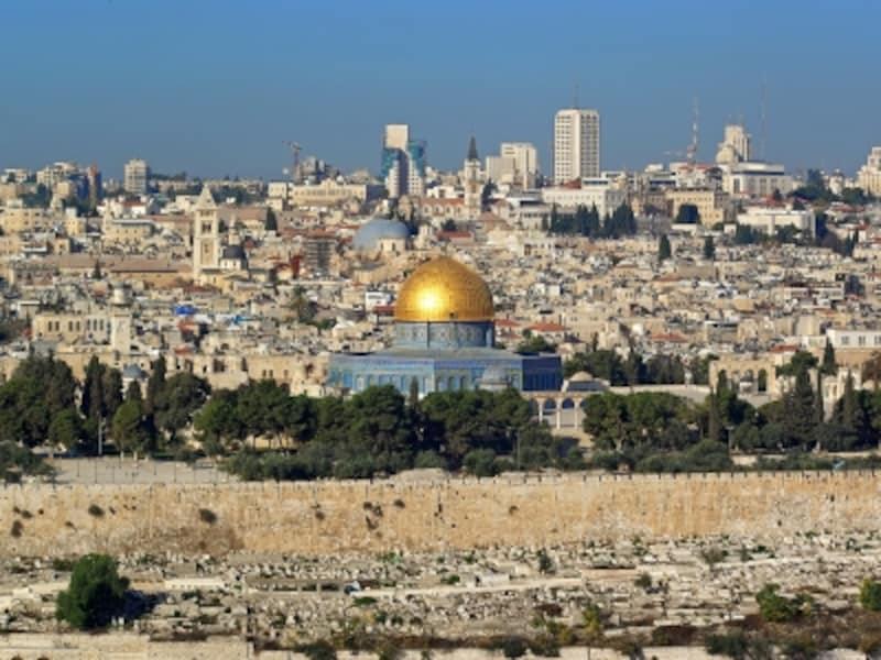 オリーブ山から見下ろすエルサレム