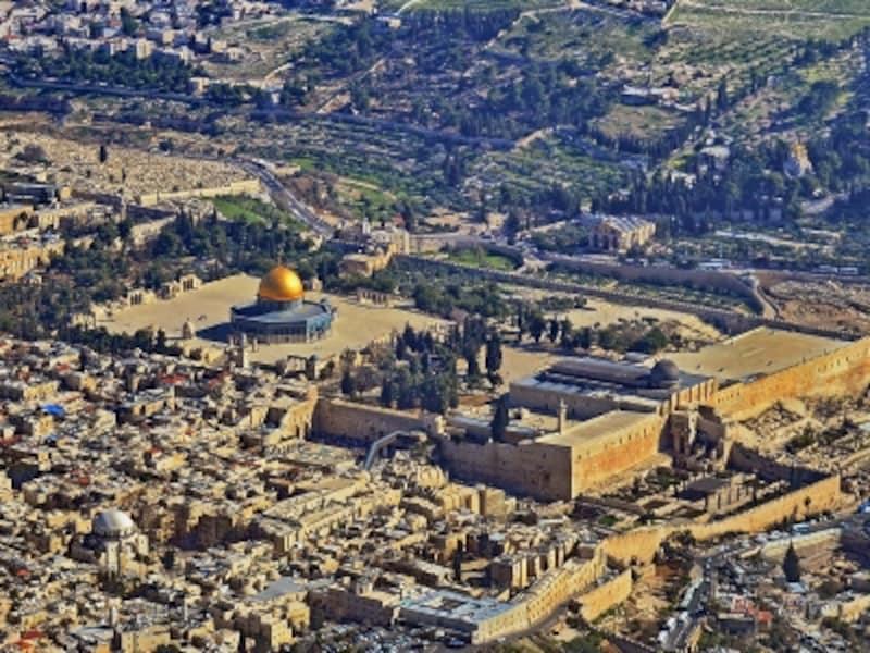 上空から見たエルサレム旧市街