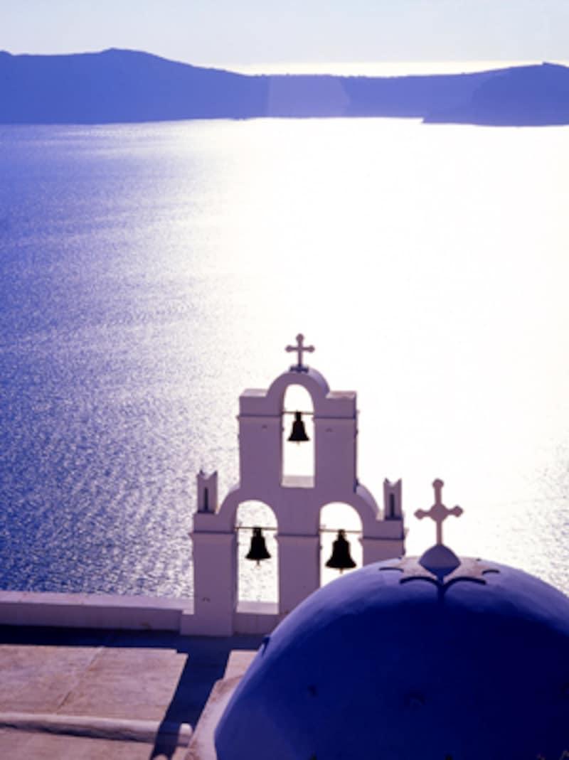 サントリーニから眺めるエーゲ海