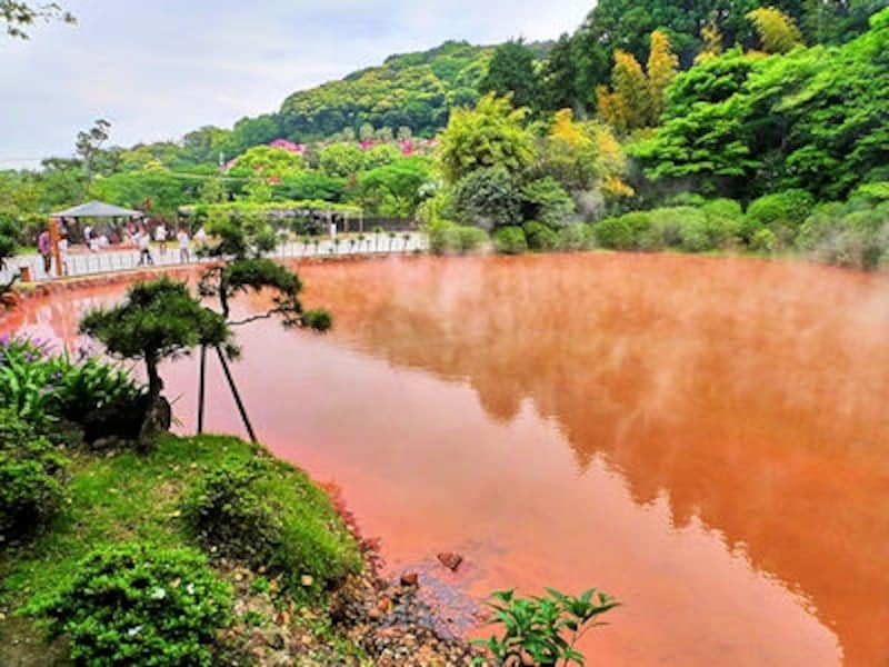 別府温泉「血の池地獄」