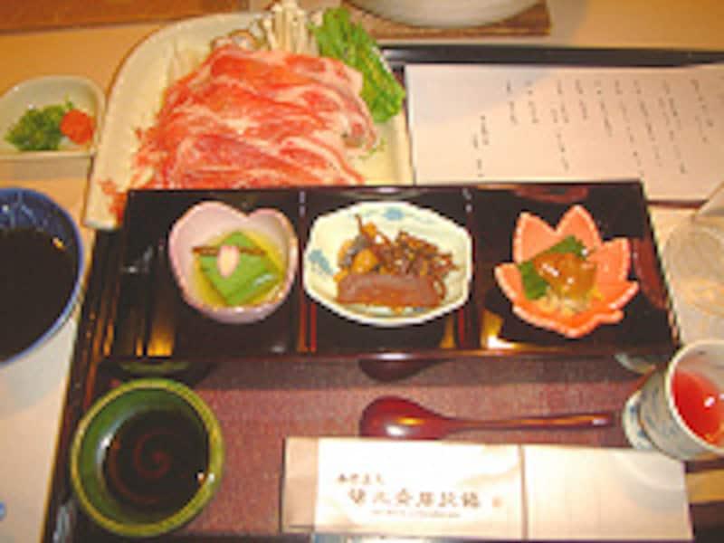 湯元齋藤旅館前菜