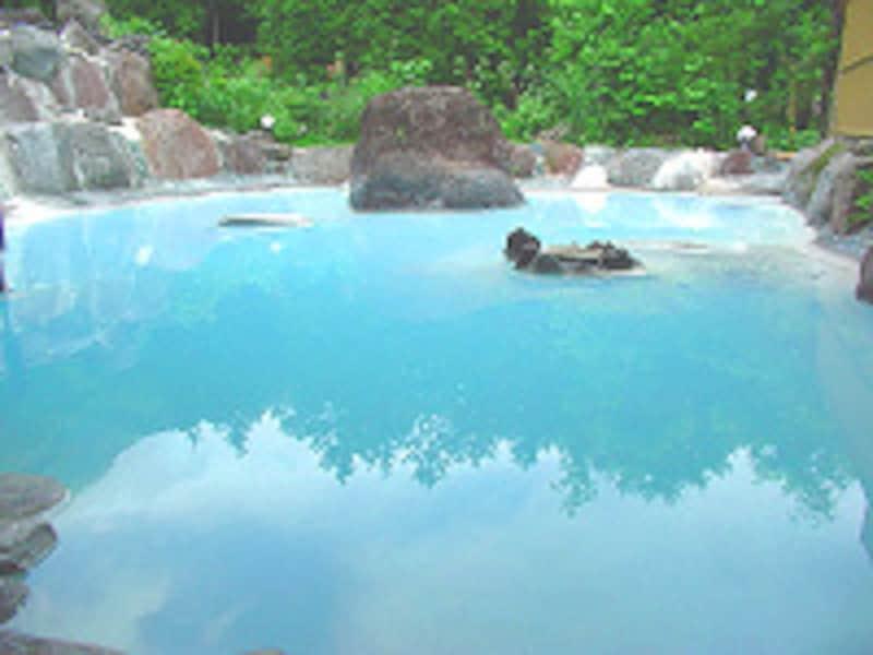 ゆふいん庄屋の館 露天風呂