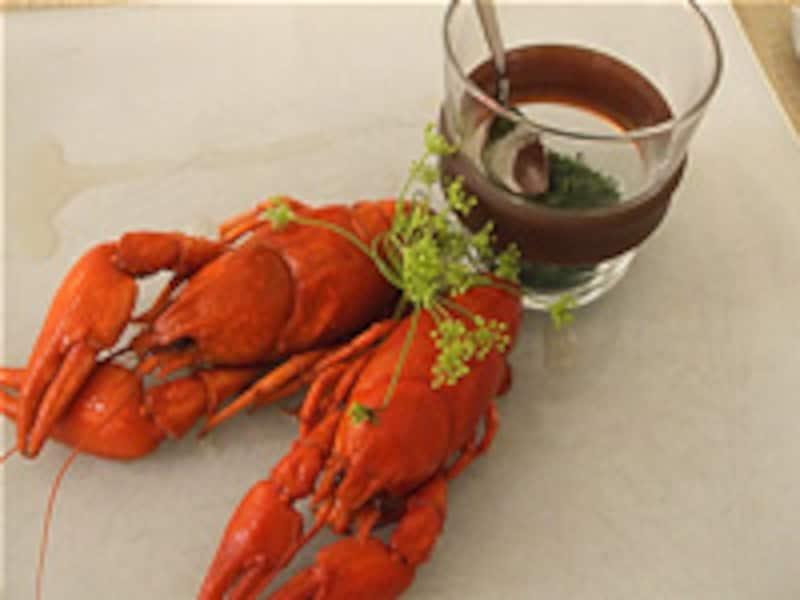 ザリガニ料理