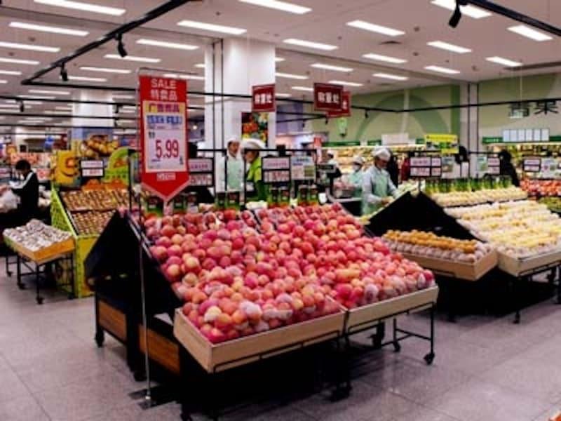 中国のスーパー・食品売り場