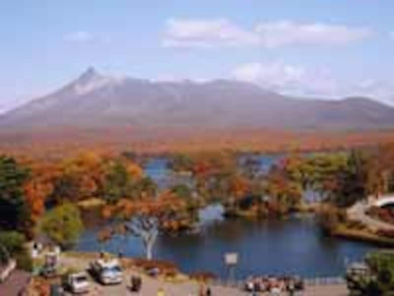 大沼の紅葉2000年撮影