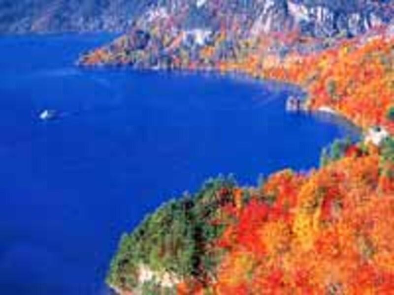 十和田湖の紅葉(1987年撮影)