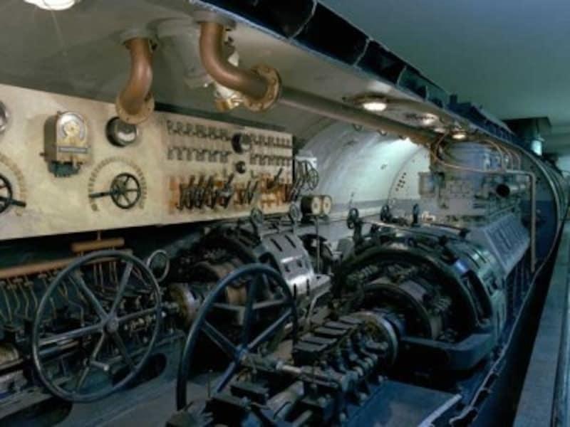 船舶のセクションには潜水艦の実物モデルもDeutschesMuseum