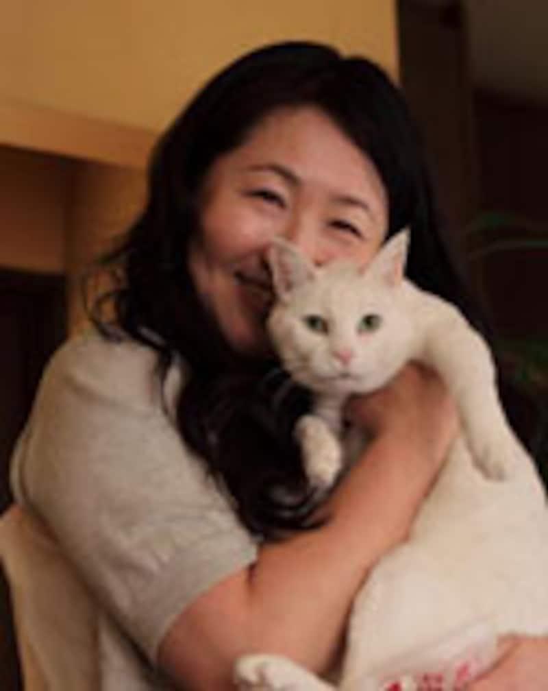 村田順子先生とシロちゃん