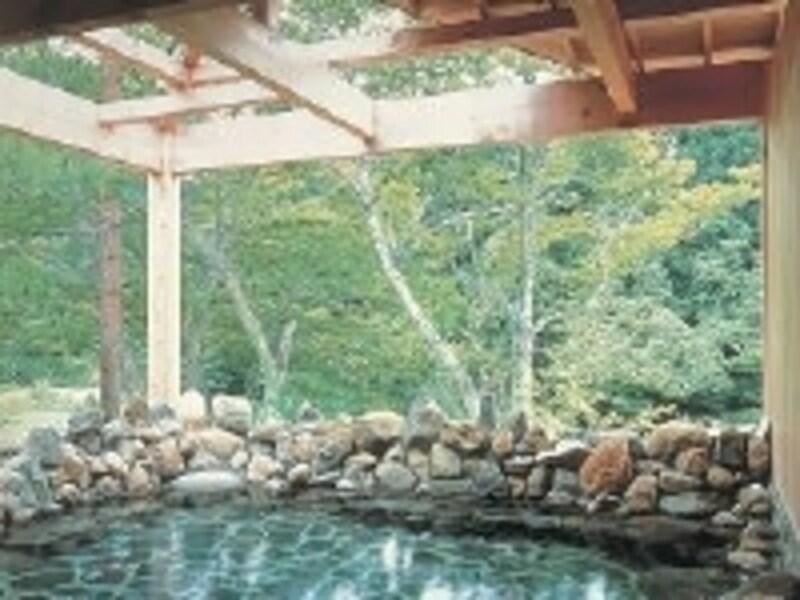 自然以外に何もないのが最高の贅沢。ありのままの自然を感じられる露天風呂