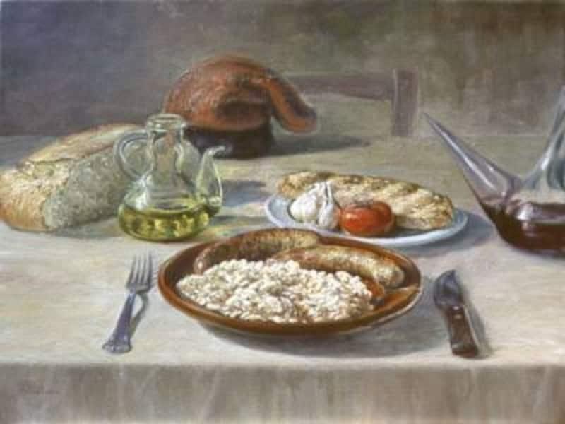 カタルーニャ州の伝統料理の食卓。