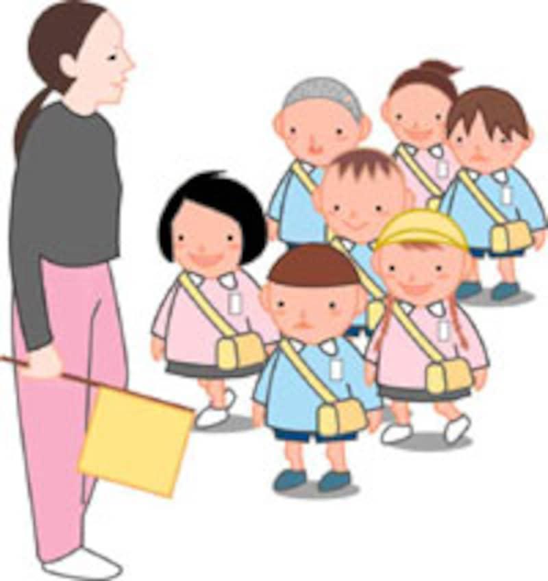 幼稚園の引き取り訓練