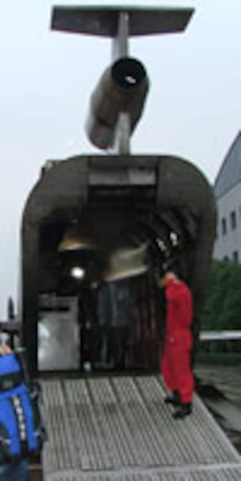 シミュレーター後部 積み荷部分