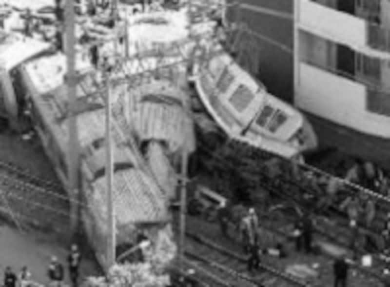 史上最大の死傷者を発生させた福知山の事故現場