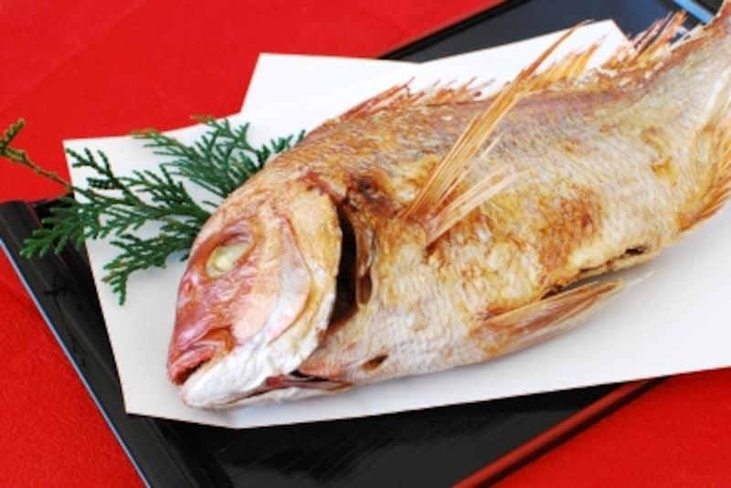 お食い初めの鯛の塩焼きの準備は?