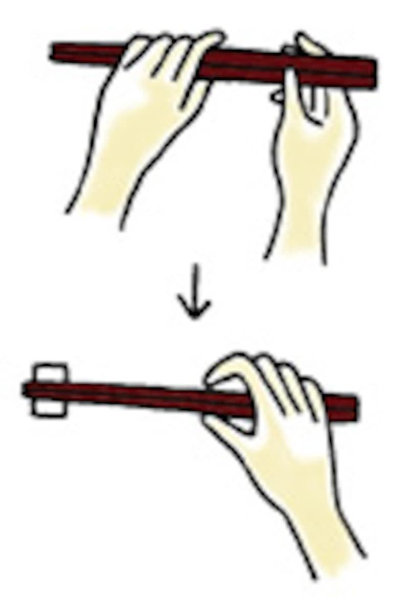 箸の置き方